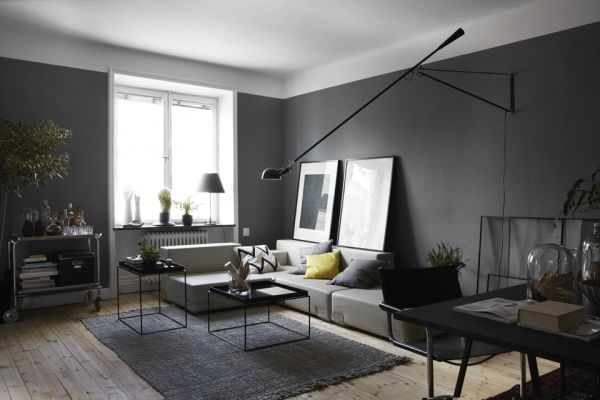 Dark Apartment Interior Design