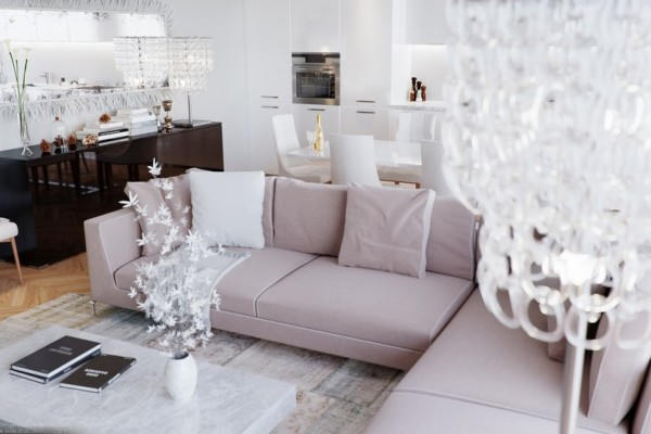 CHIC AND MODERN LIVING ROOM DESIGN